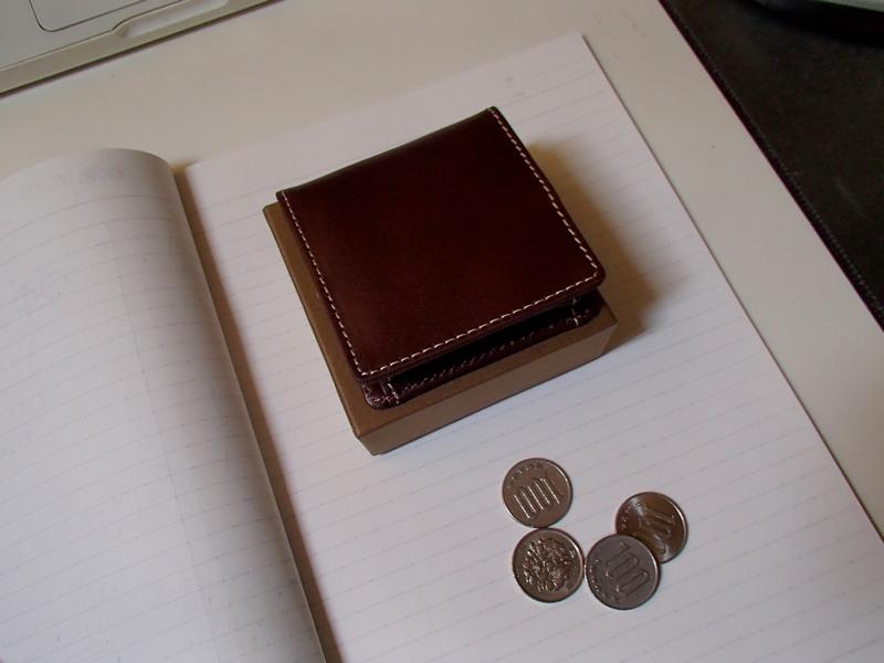 良い感じのコンパクトな小銭入れ,ヌメ革