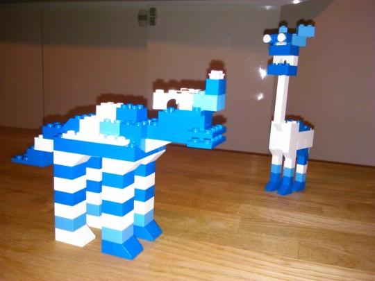 晩酌ついでに、レゴで2つ目のオリジナル作品、カバ的な2