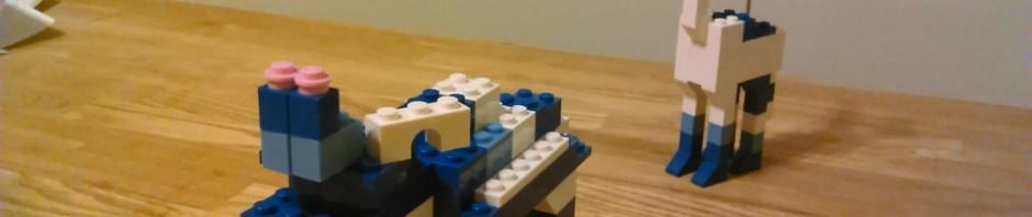 晩酌ついでに、レゴで2つ目のオリジナル作品、カバ的な3