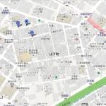中華街と萬珍樓の地図