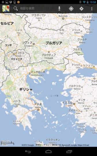 Nexus7で地図