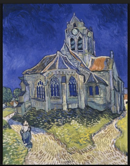 ゴッホThe Church in Auvers-sur-Oise, View from the Chevet
