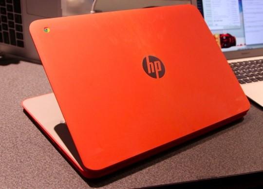 HPのChromebook 14の赤