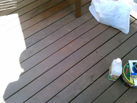 腐ったウッドデッキの枕木・大引き交換完了2