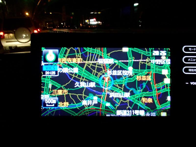 平日夕方、環八。練馬、荻窪周辺の渋滞状況