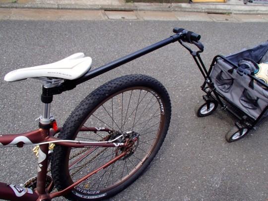 イレクターで自転車用のリアカーヒッチ作成