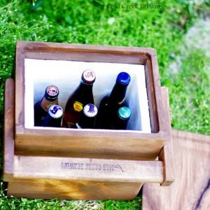 木製のクーラーボックス2