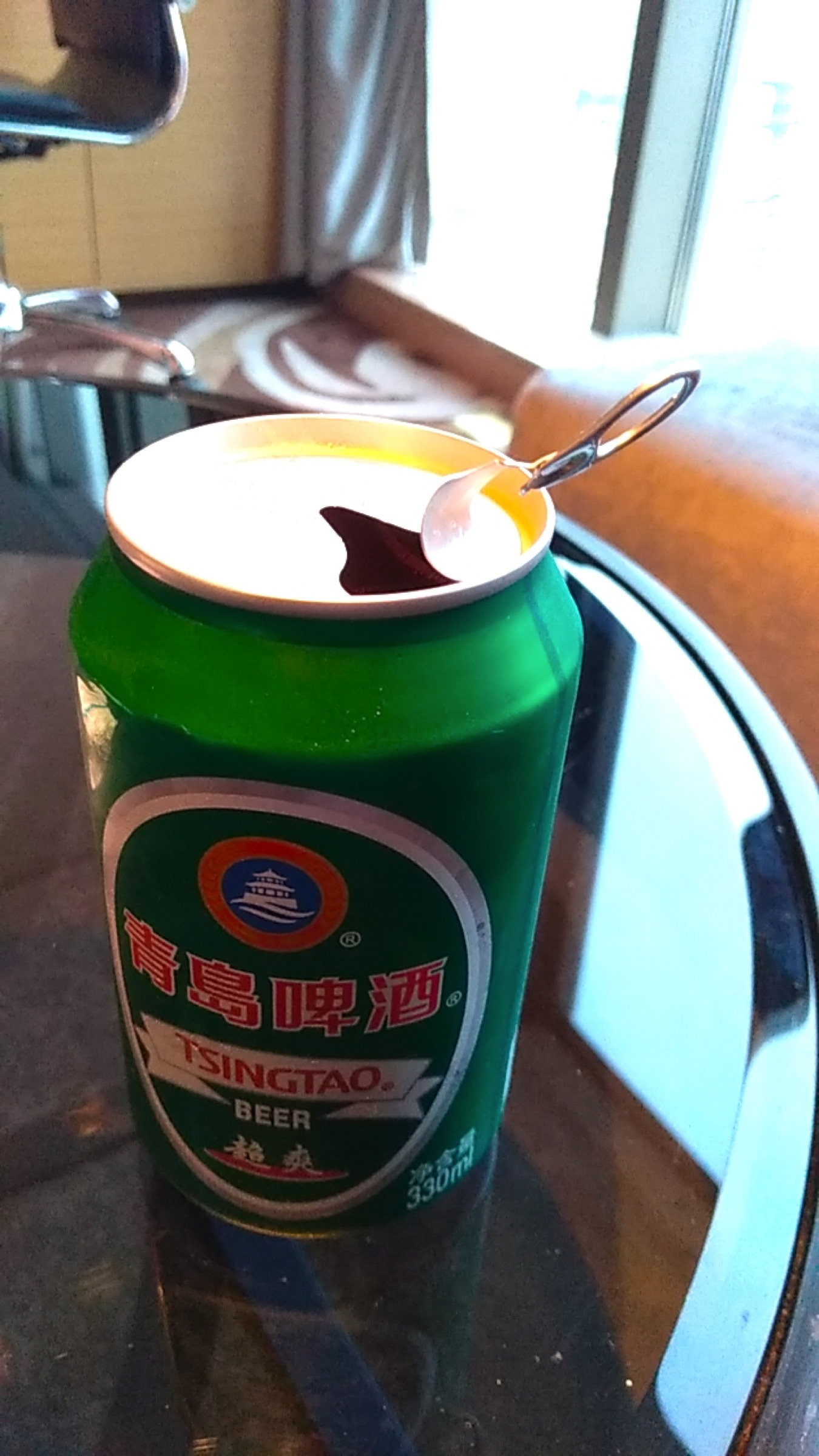 中国 深セン 福田 ウィンダム・グランド・ホテル 青島ビール 懐かしいプルタブ Shenzhen Futian Wyndham Grand Hotel_[0]