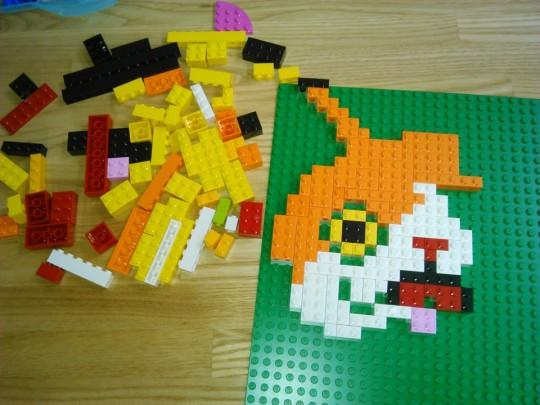 レゴでアイロンビーズ的ジバニャン