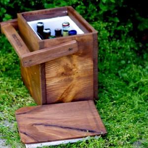木製のクーラーボックス1