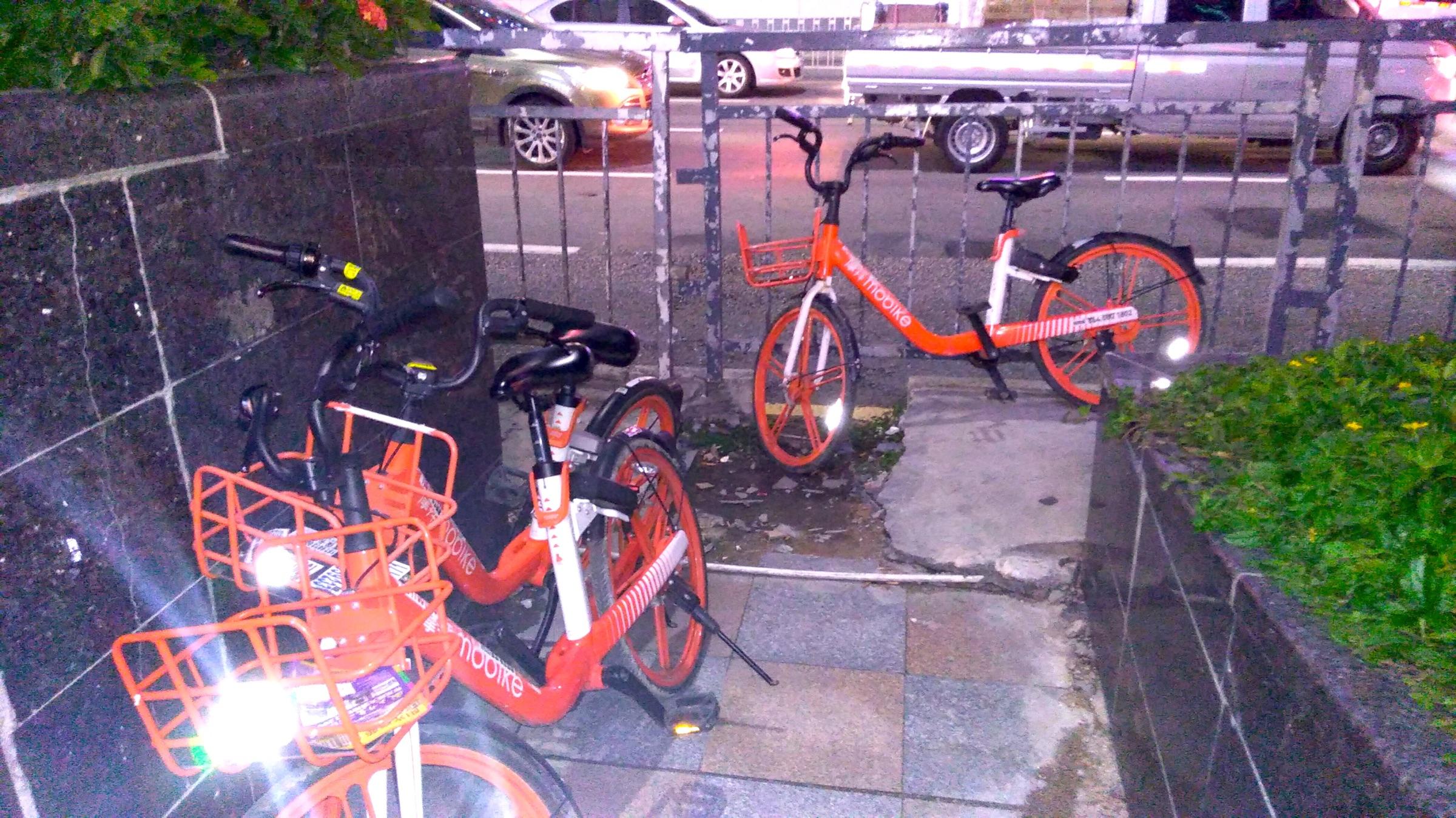 中国 深セン 福田 Mobike 乗り捨てられた自転車 Shenzhen Futian_[0]