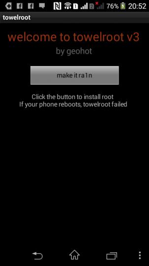 Xpreria M dual Root化1_3 towelrootでmake it ra1n