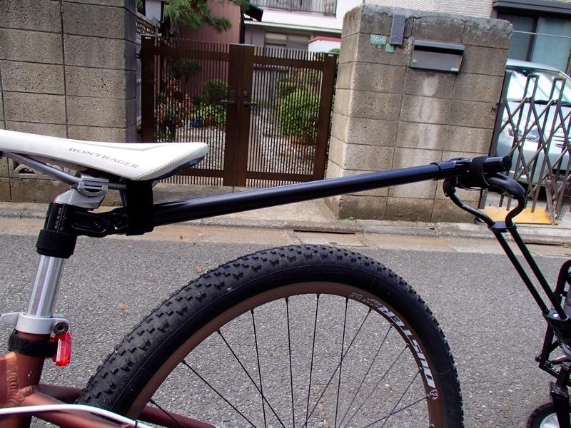 エレクターで自転車用のリアカーヒッチ作成