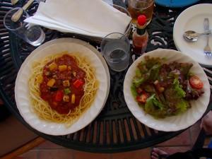 アクシオン ランチ 夏野菜ボロネーゼ