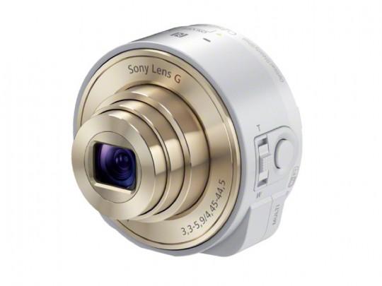 「レンズスタイルカメラ」DSC-QX100の白
