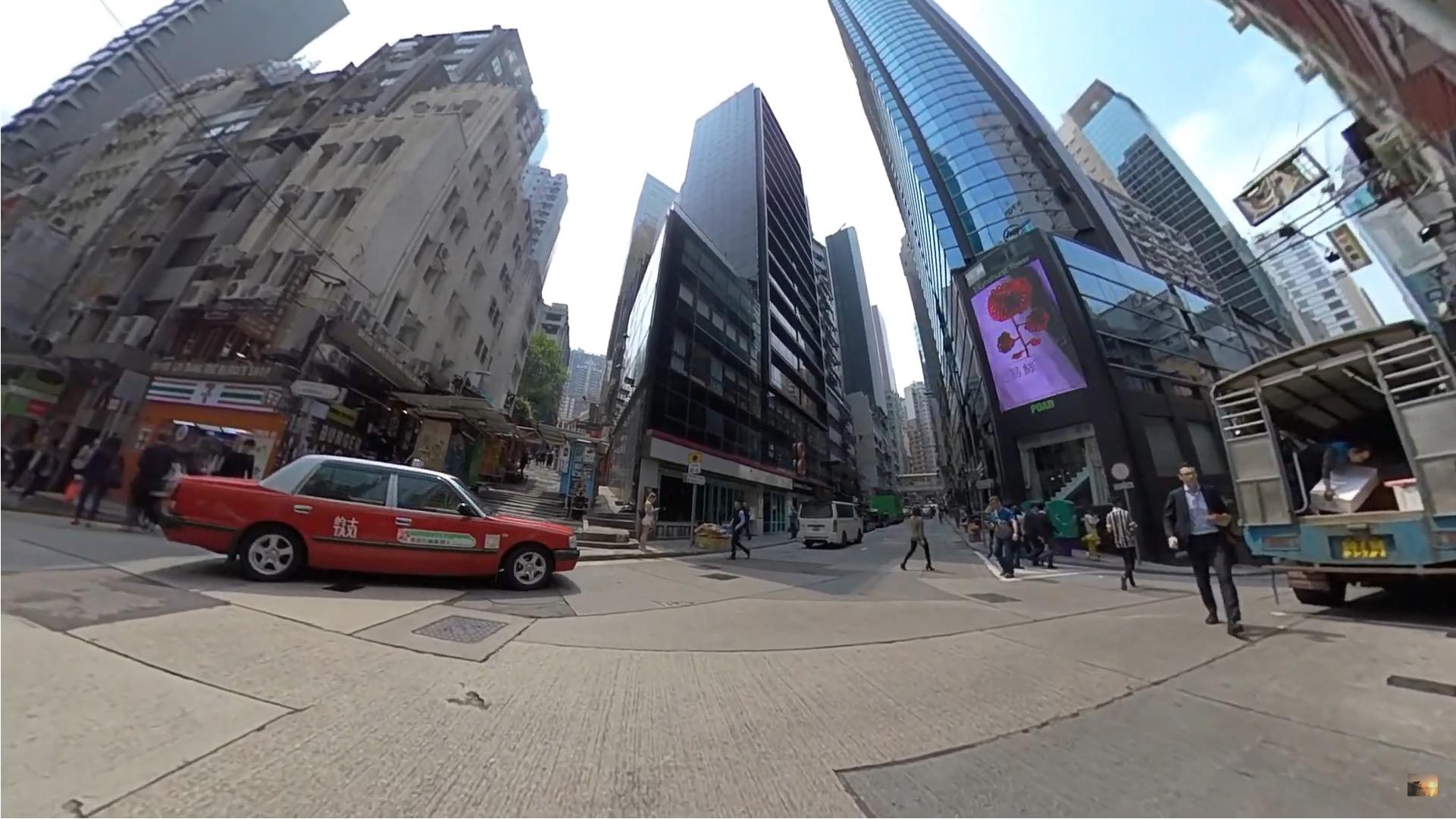 香港 中環 ビルの間が狭い2