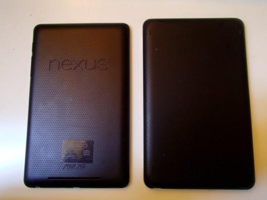 Nexus7+Bluetoothキーボード背面
