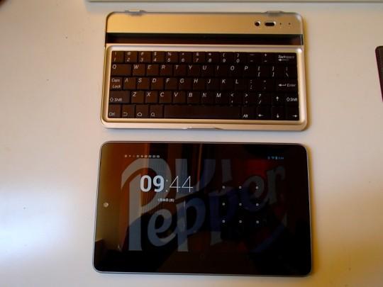 Nexus7+Bluetoothキーボード2