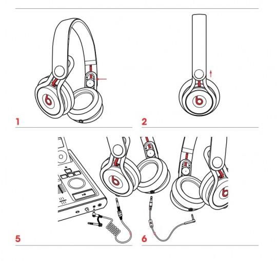 Beats Mixr  ケーブル接続