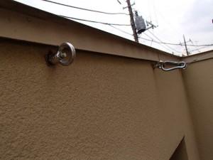 テラスの壁の丸カン2