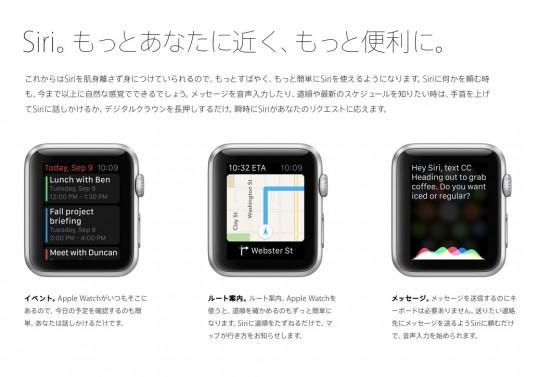 Apple WATCHにはSiriも搭載