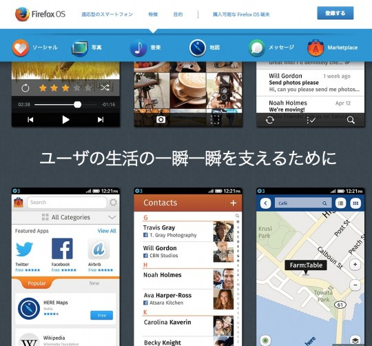 Firefox OSの機能