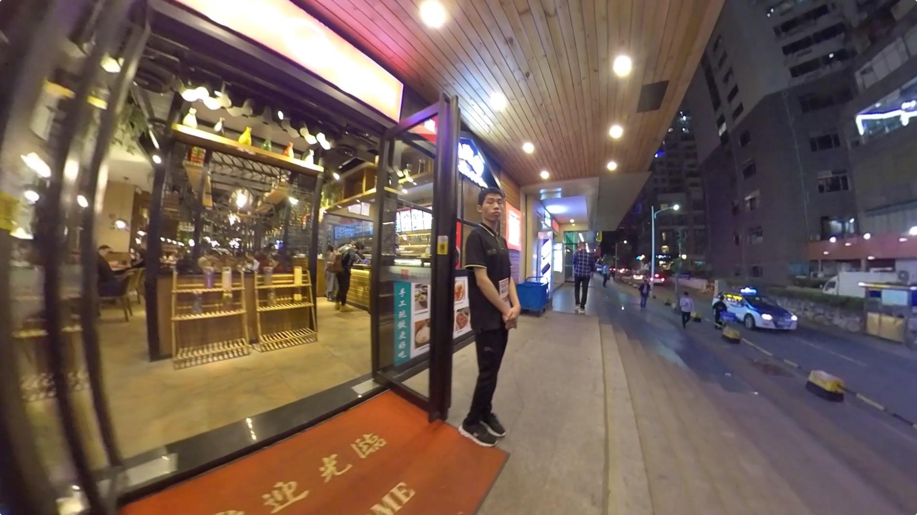 深セン福田崗廈の裏通りのレストラン1