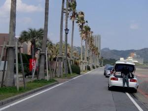 鴨川の海岸線道路
