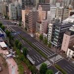 東京ドームシティ アトラクションズ スカイフラワーの上空から