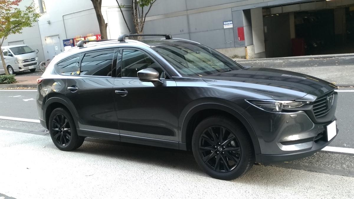 CX-8 2.2D PROACTIVE ホイール粉体塗装ブラック コーティング メッキ部ラップ Terzoエアロルーフキャリア