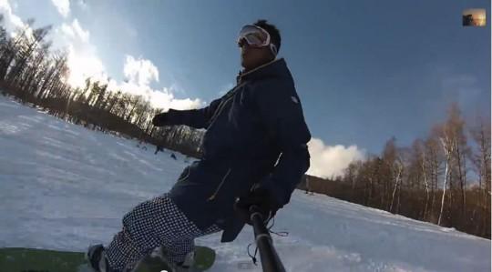 GoProでスノボ自画撮り
