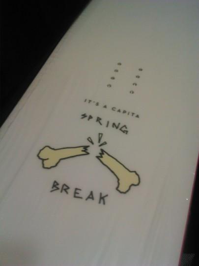 CAPiTA SPRING BREAK SLUSH SLUSHER151 デッキロゴ3