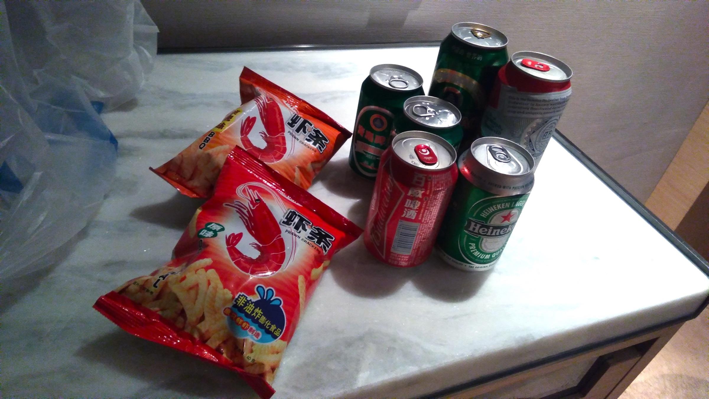 中国 深セン 福田 ウィンダムグランドホテル ホテルに戻ってビールで一杯1 Wyndham Grand Shenzhen Futian_[0]