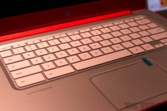 HPのChromebook 14のキーボード_