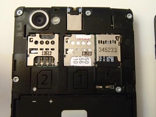 Xperia M dual C2005のデュアルSIMのSIMスロット
