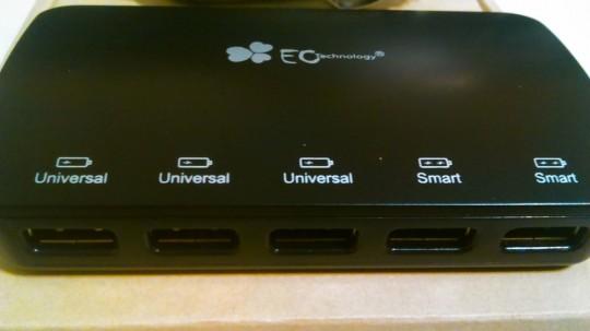 EC Technologyのシガーソケットから給電できる5ポートのUSBアダプタ2