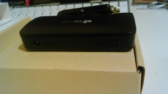 EC Technologyのシガーソケットから給電できる5ポートのUSBアダプタの背面