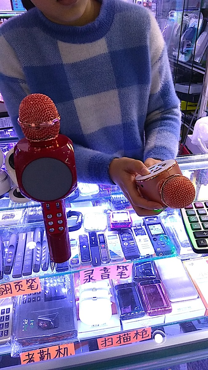 深セン華強北の街 SEGプラザビル 内部売り場 カラオケマイク2_[0]_[0]