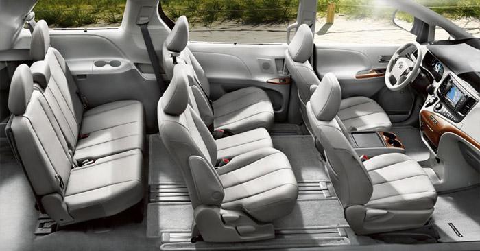 北米トヨタのミニバン シエナのシート構成