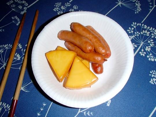 スモークチーズ&ソーセージ 燻製完了2_[0]