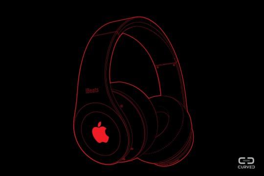 """AppleがBeatsのヘッドフォンを作るとこうなる""""ibeats""""コンセプトのフォルム1"""